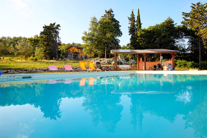 panorama piscina-casa - Tuscany countryside Arezzo,swimming pool, riding - Capolona - rentals