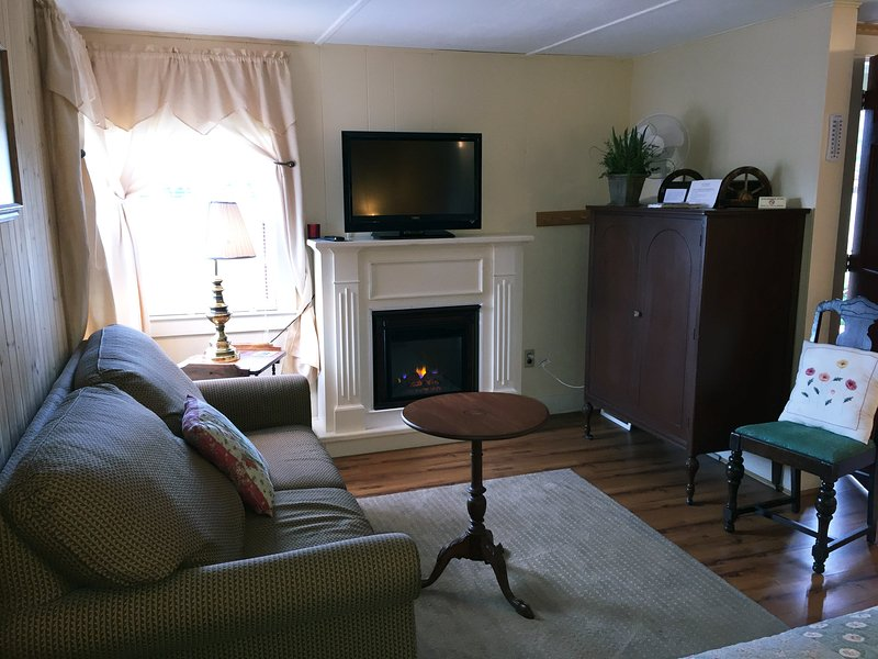 Living area - NH white mountain  cabin. Loon Waterville  state parks  view of mountains one room - Thornton - rentals