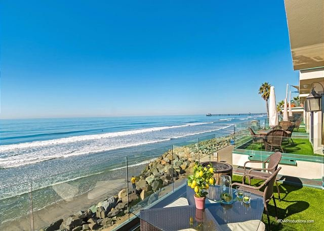 Brand New Oceanfront Upper Level Triplex Designer Decorated & A/C Equipped - Image 1 - Oceanside - rentals