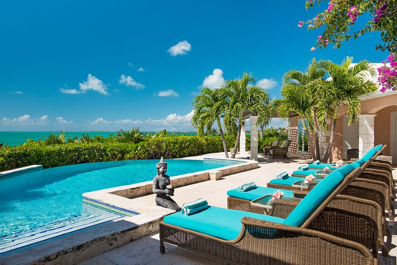 Privacy, Infinity Pool, Spa, Swim Dock, Gazebo, 270 degree ocean views! - Image 1 - Providenciales - rentals