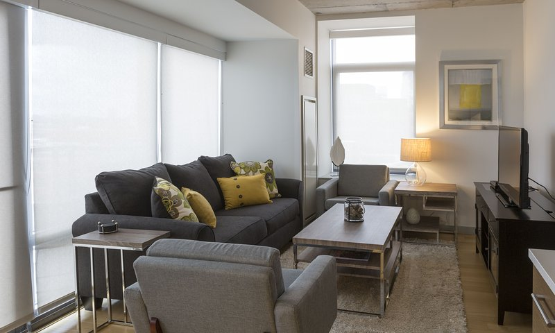 Stay Alfred Boston Vacation Rental Living Room - Beautiful A Street Apartment by Stay Alfred - Boston - rentals
