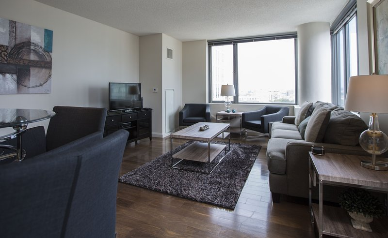 Stay Alfred Boston Vacation Rental Living Room - Attractive Washington Street Apartment by Stay Alfred - Boston - rentals