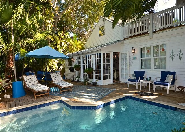 "You will feel like you are at your own, private ""beach club"" in this back yard oasis  - BEACH CLUB BREEZE -  Private Heated Pool, Sun Deck & BBQ Grill - Key West - rentals"