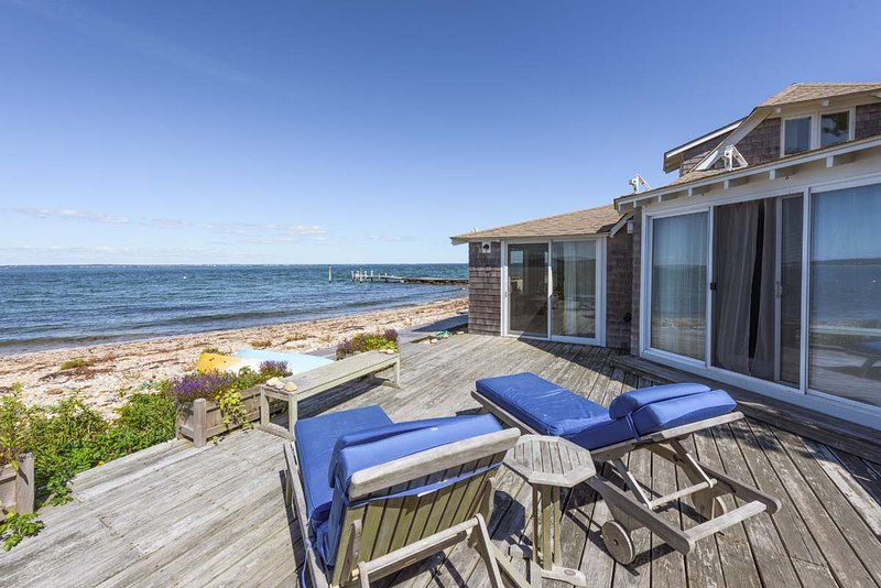 CENCP - East Chop Waterfront, Extraordinary Views Across the Sound, Beautifully Furnished, Deck directly on the Beach - Image 1 - United States - rentals