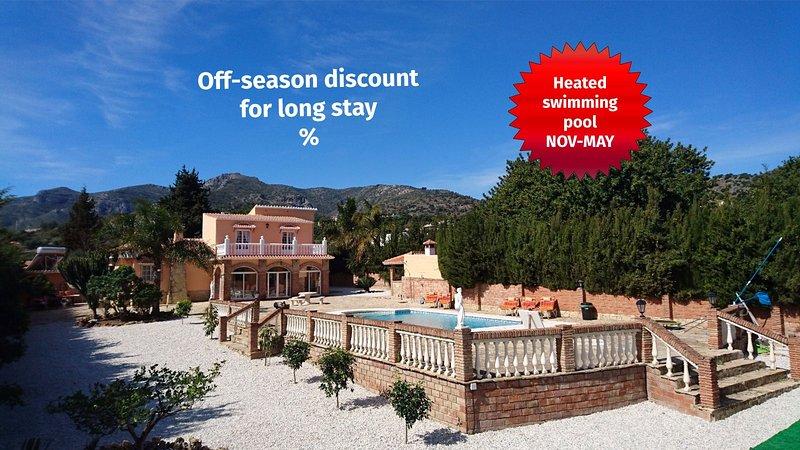 Villa Buenavista Malaga - Villa with private pool, sea view, A/C, WiFi, BBQ - Malaga - rentals
