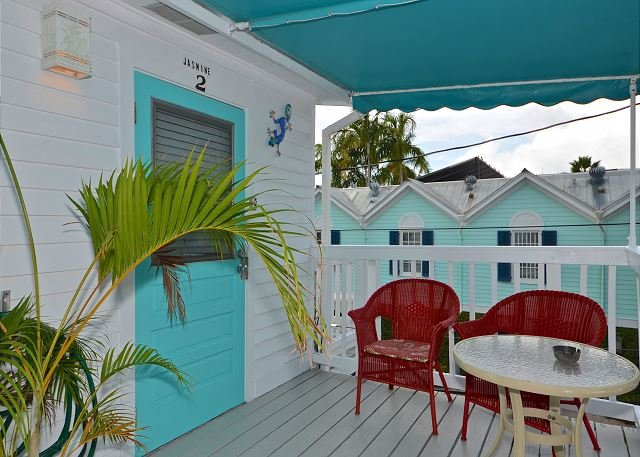 Front patio area leading into the suite - Jasmine Suite- Cute Suite w/ Balcony & Pvt Parking. Perfect Location by Duval - Key West - rentals