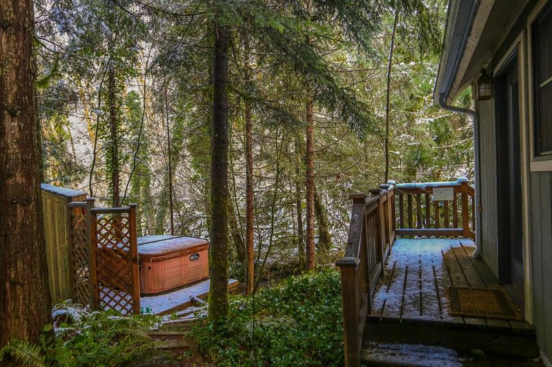 Rustic and cozy creekside home w/ private hot tub, close to ski areas! - Image 1 - Rhododendron - rentals