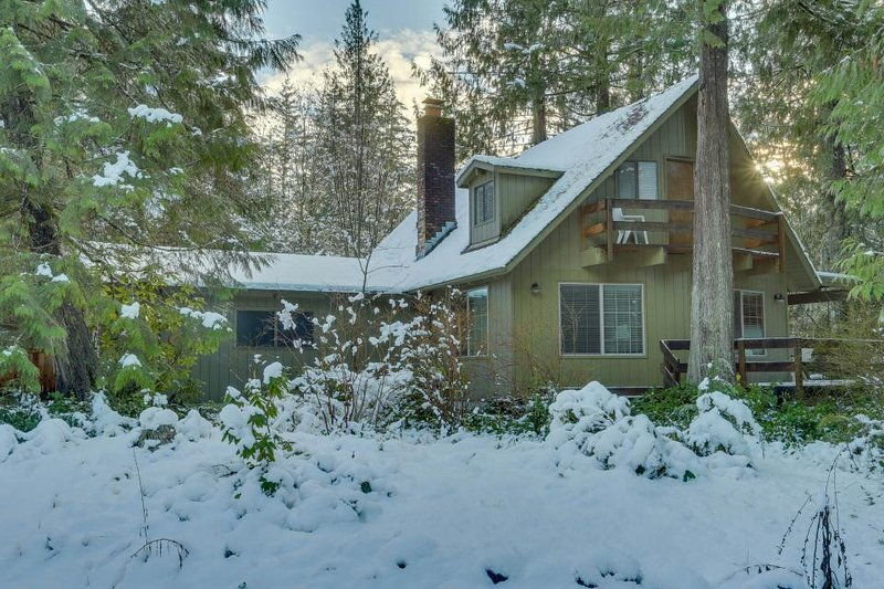Cozy, rustic home w/ river access, entertainment, & skiing nearby! - Image 1 - Rhododendron - rentals