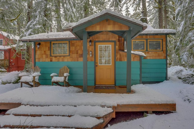 Modern, cozy, dog-friendly mountain retreat w/private hot tub & central location - Image 1 - Rhododendron - rentals