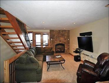The Living Area - Private Hot Tub - Welcoming Furnishings and Decor (13358) - Breckenridge - rentals
