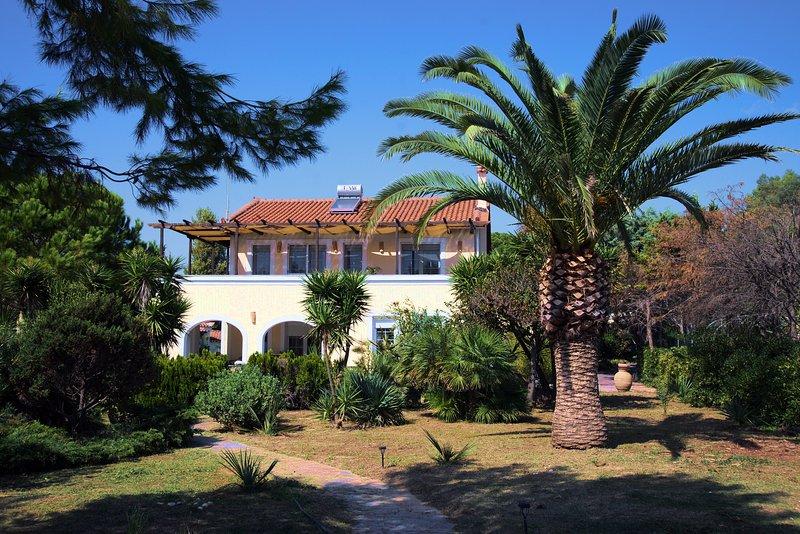 The front garden next to the beach - BEACH VILLA IN KORONI - Koroni - rentals