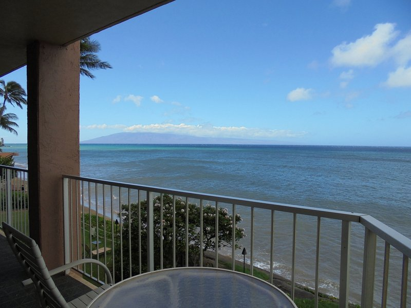 The view from your 40' lanai - Royal Kahana 210; Two Bedroom, 2.5 Bath OCEANFRONT Home. Free Parking/Wi-FI - Napili-Honokowai - rentals