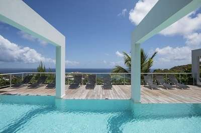 Spacious 6 Bedroom Villa with View in Vitet - Image 1 - Saint Barthelemy - rentals