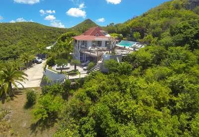 Private 4 Bedroom Villa with Ocean View in Flamands - Image 1 - Saint Barthelemy - rentals