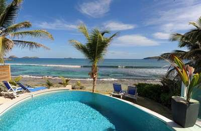 2 Bedroom Beachfront Villa in Anse des Cayes - Image 1 - Anse Des Cayes - rentals
