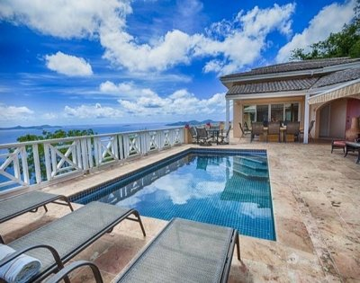 6 Bedroom Villa with Ocean View on Tortola - Image 1 - Tortola - rentals