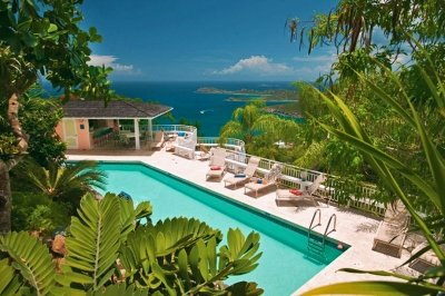 Delightful 5 Bedroom Villa with Private Pool on St. Thomas - Image 1 - Flag Hill - rentals