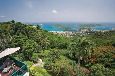 Elegant 2 Bedroom Hillside Mansion on St. Thomas - Image 1 - Frenchtown - rentals
