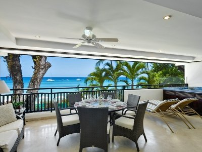 Attractive 3 Bedroom Beachfront Apartment in Paynes Bay - Image 1 - Holder's Hill - rentals