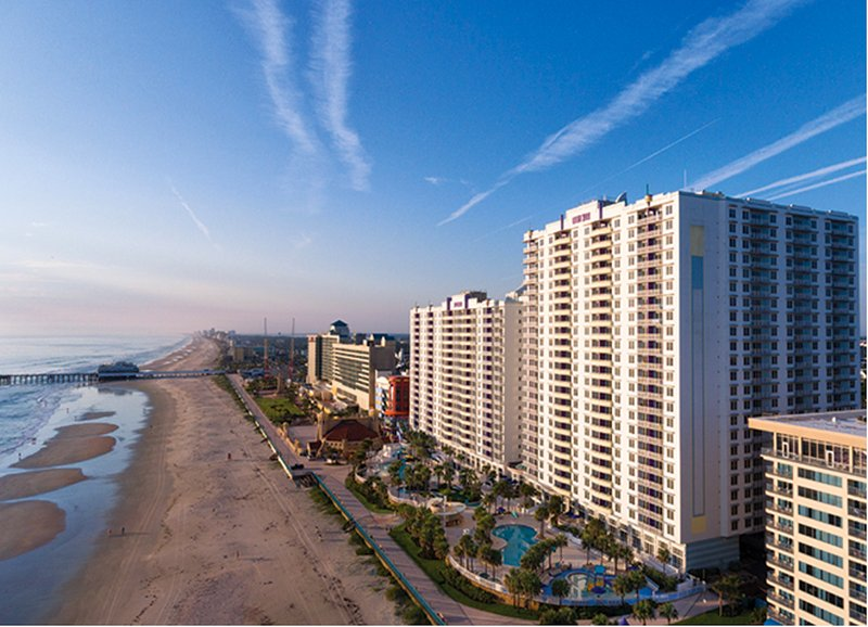 Your 2-bedroom, 2-bathroom vacation condo is located only a short walk-away from the beach  - Sand, Sun, and Fun – Wyndham Ocean Walk 2-Bedroom Condo - Daytona Beach - rentals