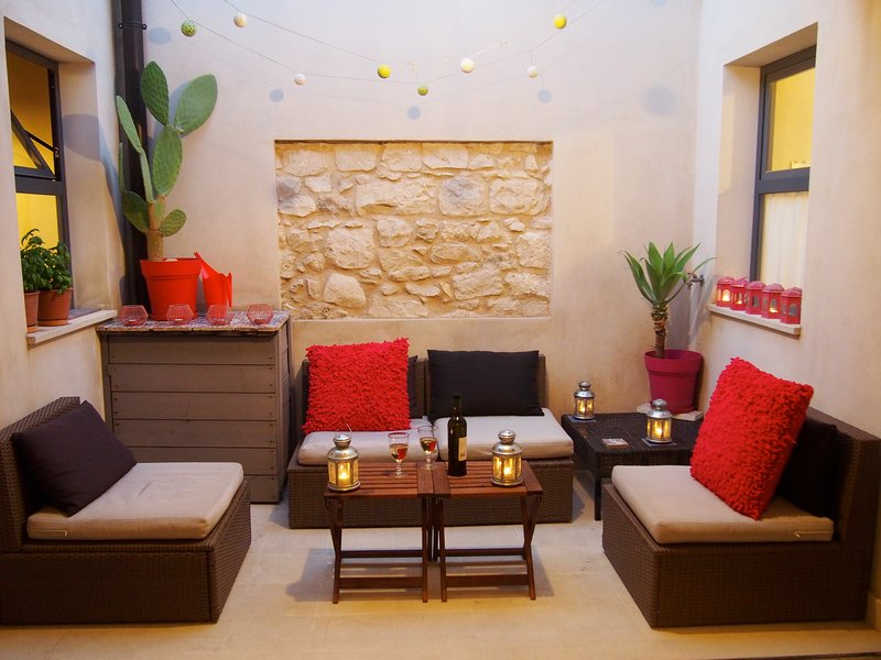 Private Terrace - relax under a star-filled sky. - 18th Century Home with Captivating Historic Charm - Modica - rentals