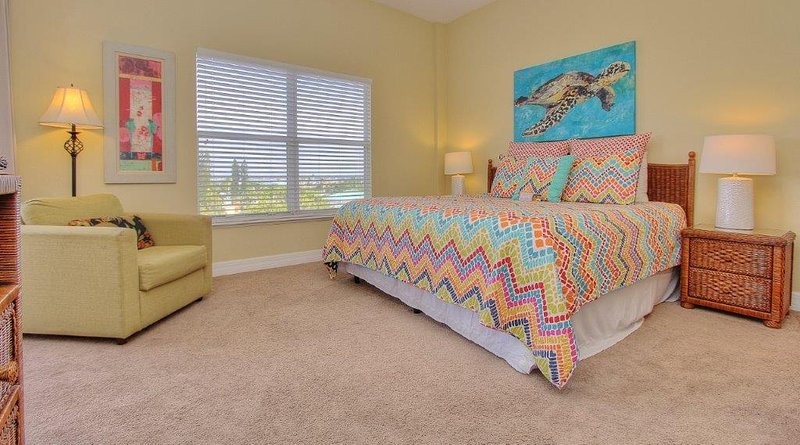 Spacious master bedroom at MBR508 invites relaxation with its king bed - Madeira Bay Resort 508 - Madeira Beach - rentals