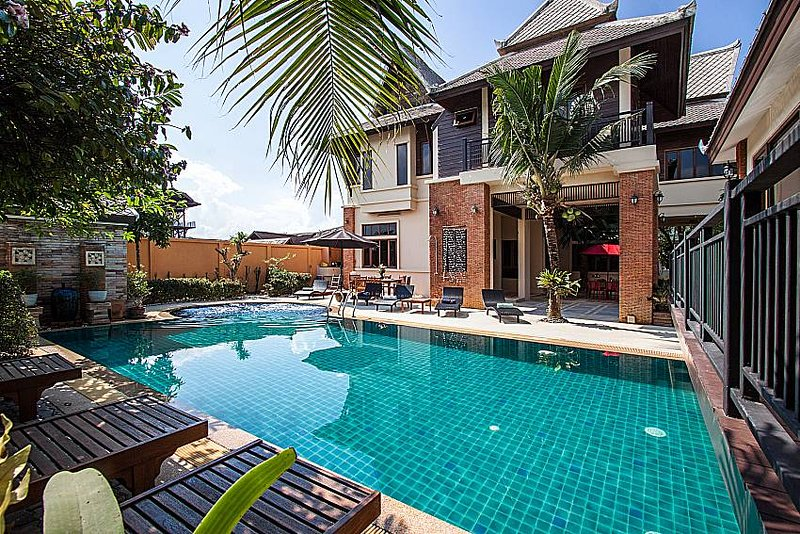 Baan Suay Tukta | 5 Bed Tropical Pool Villa near Jomtien Beach Pattaya - Image 1 - Jomtien Beach - rentals