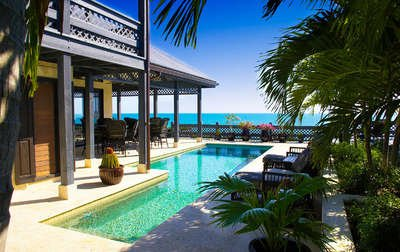 Exquisite 5 Bedroom Oceanfront Villa with Pool in Providenciales - Image 1 - Providenciales - rentals