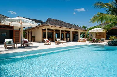 Sublime 4 Bedroom Oceanfront Villa with Pool on Chalk Sound - Image 1 - Providenciales - rentals