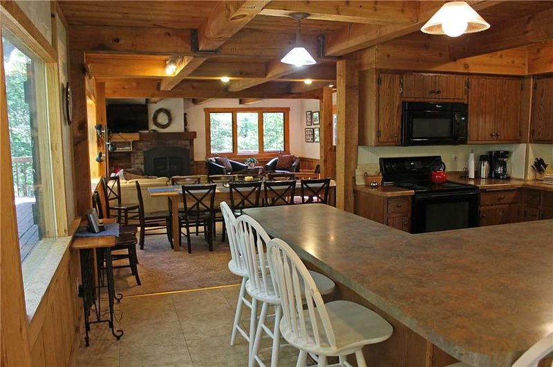 Located at Base of Powderhorn Mtn in the Western Upper Peninsula, A Gorgeous Trailside Home with Outdoor Hot Tub & Allows Dogs - Image 1 - Bessemer - rentals