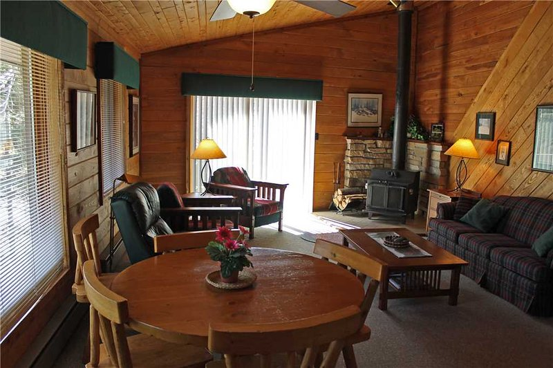 Located at Base of Powderhorn Mtn in the Western Upper Peninsula, Duplex Home with Beautiful Free-Standing Fireplace and Half Block from Main Ski Lodge - Image 1 - Ironwood - rentals