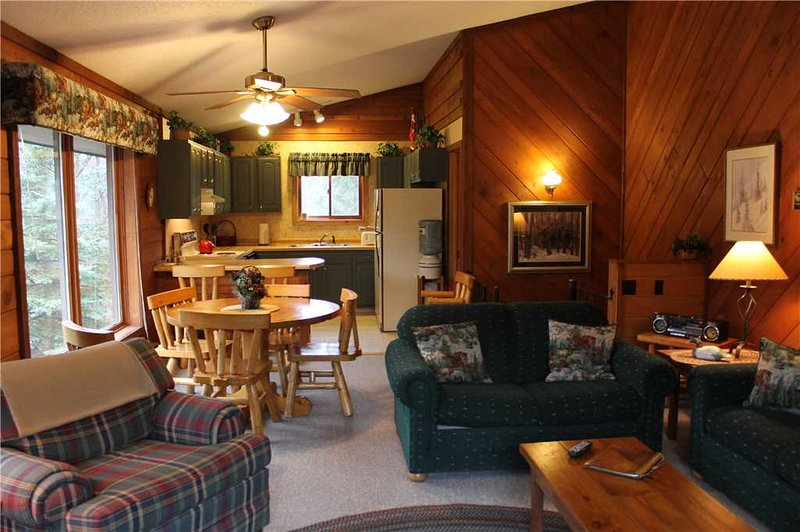 Located at Base of Powderhorn Mtn in the Western Upper Peninsula, Duplex Home Only Half Block from Main Ski Lodge with Beautiful Free-Standing Fireplace - Image 1 - Ironwood - rentals