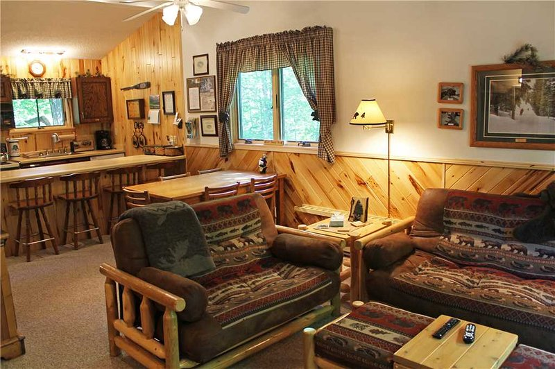 Located at Base of Powderhorn Mtn in the Western Upper Peninsula, A Cheery Condo-Style Home Nestled in the Woods - Image 1 - Ironwood - rentals