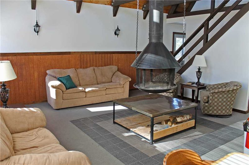 Located at Base of Powderhorn Mtn in the Western Upper Peninsula, A Cozy Home with Great View of Ski Hill & Unique Hanging Fireplace - Image 1 - Ironwood - rentals