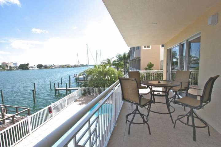 Beautiful Private Patio with Seating for 4-Watch the dolphins and boats go by - 204 Bay Harbor - Clearwater Beach - rentals