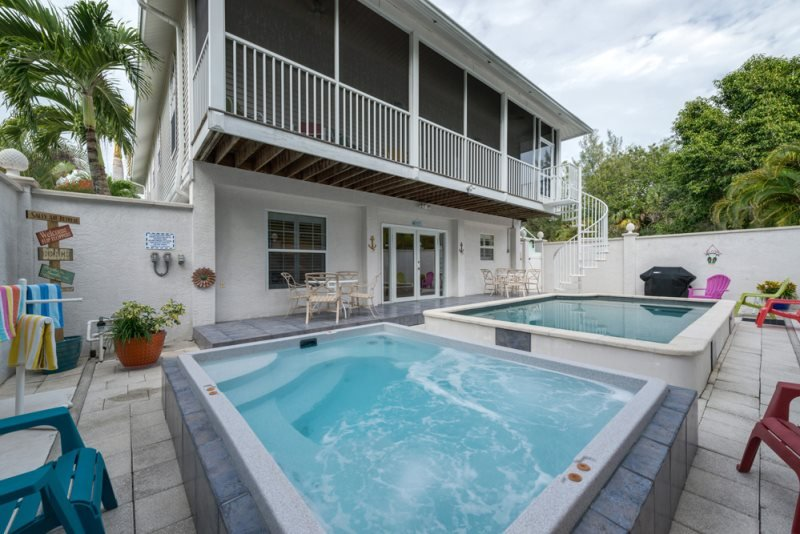 2/31: Pool facing back of house - Mango Fandango is our Brand New Pier Area Rental Home with Private Pool and Spa - Fort Myers Beach - rentals