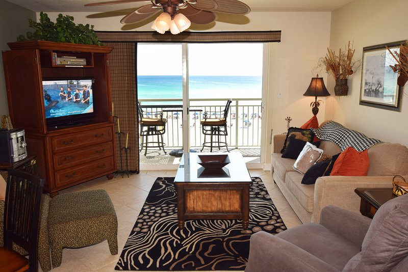 Living Room Pelican Isle 308 Fort Walton Beach Okaloosa Island Vacation Rentals - Pelican Isle Resort, Unit 308 - Fort Walton Beach - rentals