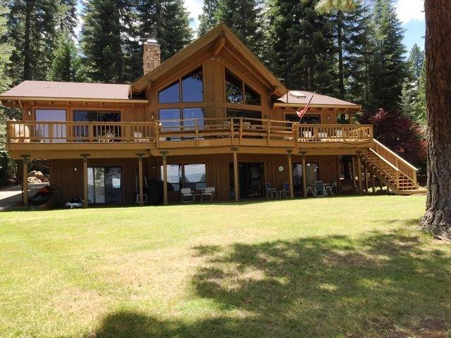 Back of House - Hilder - Almanor West LAKEFRONT with Dock & Buoy - Lake Almanor - rentals