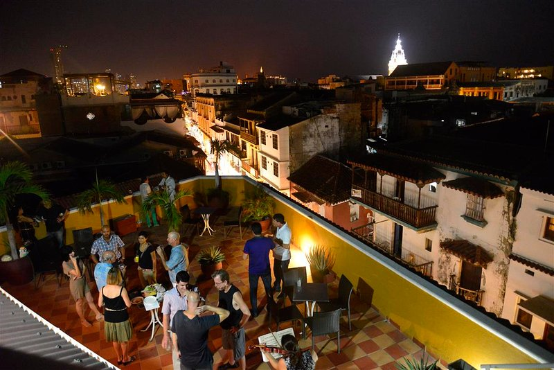 Stunning views of Old Cartagena!  Los Balcones rooftop deck as viewed from observation tower! - Old City Los Balcones Apts - studios, 1BRS, 2BRS from $90/night- AC/WiFi/Hot H20 - Cartagena - rentals
