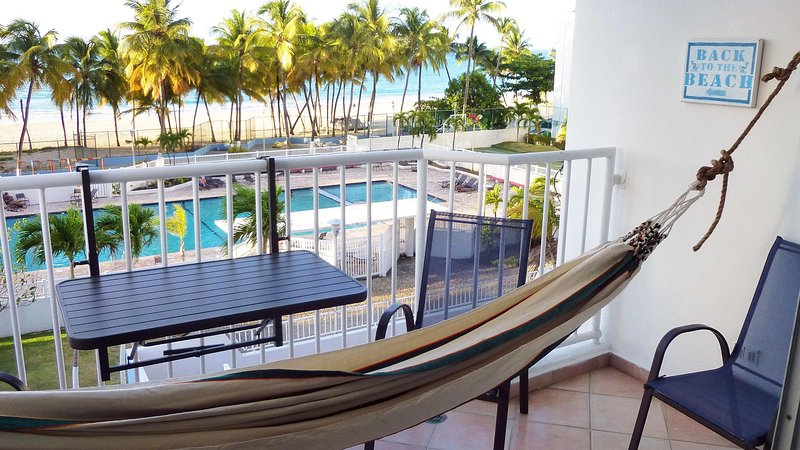Lay in the hammock, listen to the Tradewinds and waves, the Lullaby of the Sea. - Get Enchanted with the Sounds of the Sea - Isla Verde - rentals