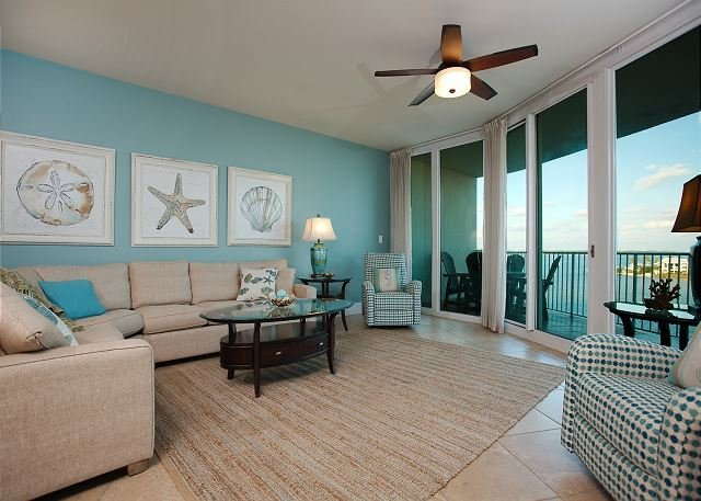 Livingroom - Caribe D408 -Summers Full Fall Filling Up Fast - Orange Beach - rentals