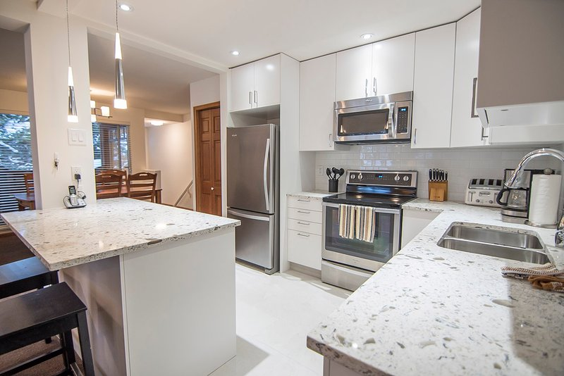 Large, bright new kitchen - Sunpath 7 a 3 bdrm pet-friendly condo in Whistler - Whistler - rentals