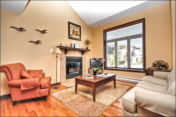 Stunning Living Area with Wood Fireplace - Breathtaking Views of Surrounding Mountains - Home Movie Theater (6000) - Mont Tremblant - rentals