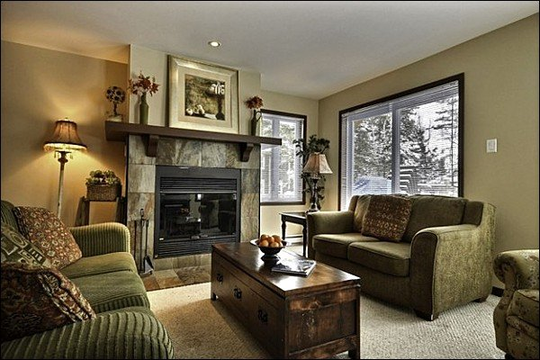 The Gorgeous Living Area is Spectacular with the Wood Burning Fireplace - Balcony with Summer BBQ for those Warm Evenings - Cozy Wood Burning Fireplace (6006) - Mont Tremblant - rentals