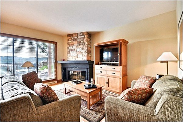 The Modern Furnishings and Decor are Featured in the Cozy Living Area - Private Terrace - Just a Short Walk to the Village Shops and Restraunts (6065) - Mont Tremblant - rentals