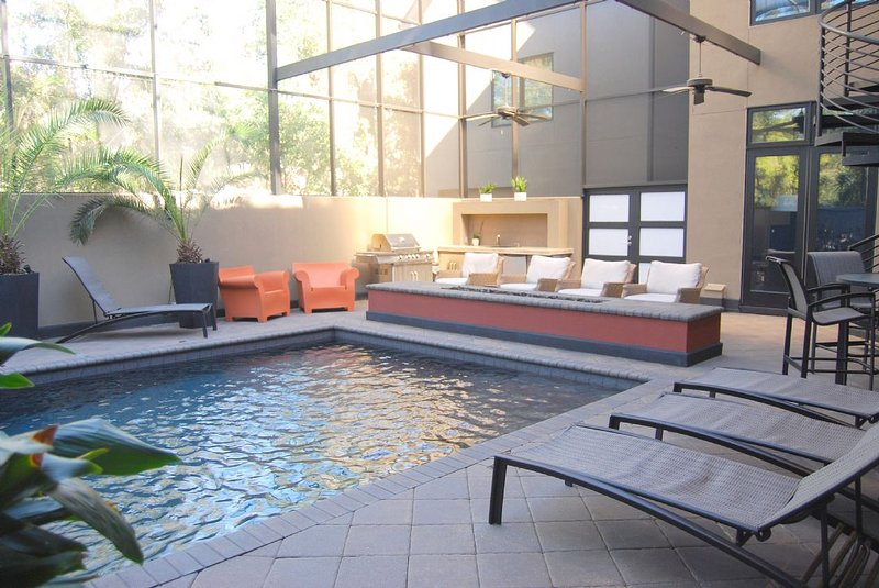 Pool with Fire Pit  - One of a Kind, Private Pool with Fire Features, Short Stroll to Beach - Hilton Head - rentals