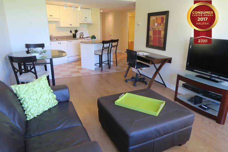 Living Area - Corner Suite with Citadel View - Halifax - rentals