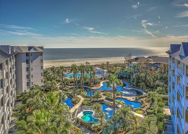 View - PENTHOUSE 5 at SeaCrest - Oceanfront 4 Bedrooms & Beautiful - Sleeps 10 - Hilton Head - rentals