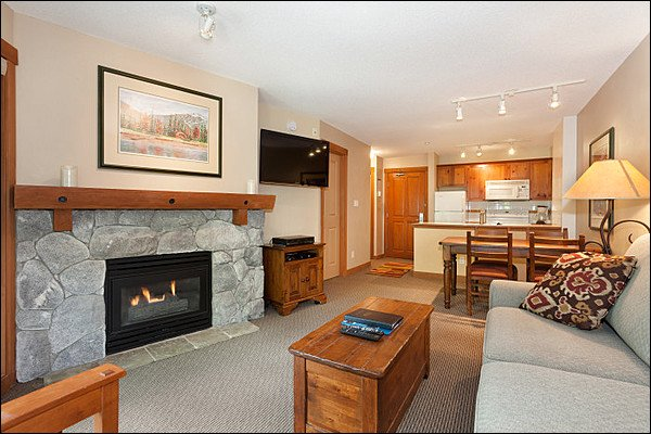 Elegant Living Room Features a Gas Fireplace - On the Edge of Golf Course and Lost Lake Park - Located on the Free Shuttle Route (4029) - Whistler - rentals