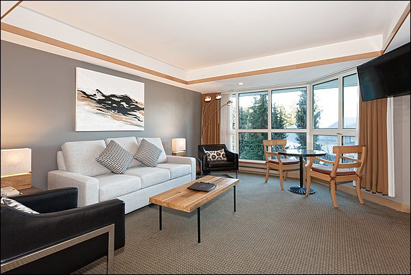 Typical View of the Living Space - Located at the Base of Blackcomb Mountain -  Free Shuttle Route (4258) - Whistler - rentals